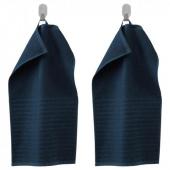 ВОГШЁН Полотенце, темно-синий, 30x50 см
