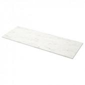 ЭКБАККЕН Столешница, белый под мрамор, ламинат, 246x2.8 см