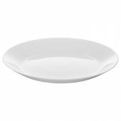 ОФТАСТ Тарелка десертная, белый, 19 см