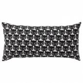 МАТТРАМ Подушка, белый, черный, 30x60 см