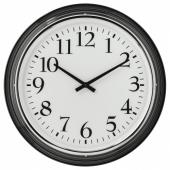БРАВУР Настенные часы, черный