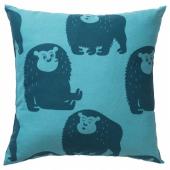 ДЬЮНГЕЛЬСКОГ Подушка, обезьянка, синий, 50x50 см