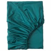 НАТТЭСМИН Простыня натяжная, темно-зеленый, 90x200 см