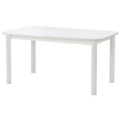 СТРАНДТОРП Раздвижной стол, белый, 150/205/260x95 см