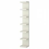 ЛАКК Полочный модуль, навесной, белый, 30x190 см