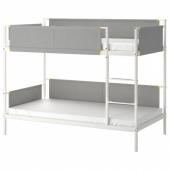 ВИТВАЛ Каркас 2-ярусной кровати, белый, светло-серый, 90x200 см