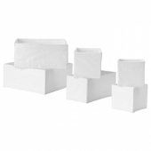 СКУББ Набор коробок, 6 шт., белый