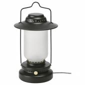 СТУРХАГА Настольная лампа, светодиодная, регулируемая яркость для сада, черный, 35 см