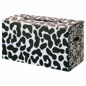 ОМБЮТЕ Упаковочная коробка, белый/черный, 66x33x35 см