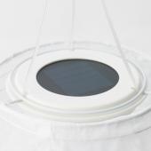 СОЛВИДЕН Подвесная светодиодная лампа, для сада, овал белый, 60 см