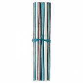 САЛТИГ Декоративная палочка, ароматический белый, бирюзовый, 35 см