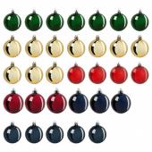 ВИНТЕР 2020 Набор елочных шаров, 32 шт., разные цвета