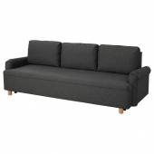 ГРИМХУЛЬТ 3-местный диван-кровать, Гуннаред темно-серый