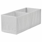 СТУК Ящик с отделениями, белый/серый, 20x51x18 см