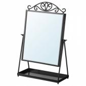 КАРМСУНД Зеркало настольное, черный, 27x43 см