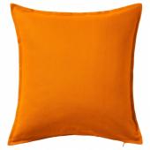 ГУРЛИ Чехол на подушку, оранжевый, 50x50 см