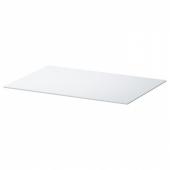 БЕСТО Верхняя панель, стекло белый, 60x40 см