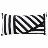 СВЭРВФРО Подушка, черный, белый, 30x60 см