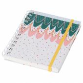 ЛАНКМОЙ Книжка для записей, белый, зеленый розовый, 17x13 см