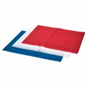 ВИНТЕР 2019 Шелковая бумага, белый красный, синий, 70x50 см/0.35 м² 12 шт