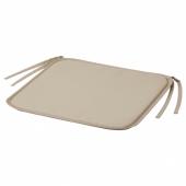 Подушка на стул, серо-бежевый д/дома/улицы, 34x34x1.0 см