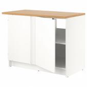 КНОКСХУЛЬТ Напольный шкаф угловой, белый, 120 см