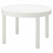 БЬЮРСТА Раздвижной стол, белый, 115/166 см