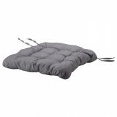 ХЭЛЛЬВИ Подушка на стул, серый, 40x38x5.0 см