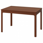 ЭКЕДАЛЕН Раздвижной стол, коричневый, 120/180x80 см