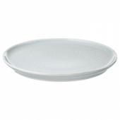 КРУСТАД Тарелка десертная, светло-серый, 16 см