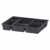 РАГГИСАР Лоток, темно-серый, 40x30 см
