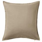 ГУРЛИ Чехол на подушку, бежевый, 50x50 см