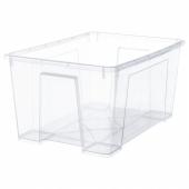 САМЛА Контейнер, прозрачный, 56x39x28 см/45 л