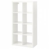 КАЛЛАКС Стеллаж, глянцевый белый, 77x147 см
