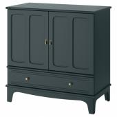 ЛОММАРП Шкаф, темный сине-зеленый, 102x101 см