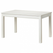 ЛАНЕБЕРГ Раздвижной стол, белый, 130/190x80 см
