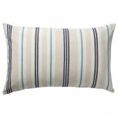 СМАЛСТЭКРА Чехол на подушку, бежевый/синий, в полоску, 40x65 см