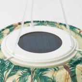 СОЛВИДЕН Подвесная светодиодная лампа, для сада, овал орнамент «пальма», 60 см