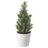 ВИНТЕР 2020 Искусственное растение и кашпо, д/дома/улицы, рождественская елка зеленый, 6 см