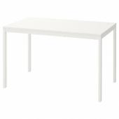 ВАНГСТА Раздвижной стол, белый, 120/180x75 см