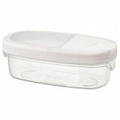 ИКЕА/365+ Контейнер+крышка д/сухих продуктов, прозрачный, белый, 0.3 л