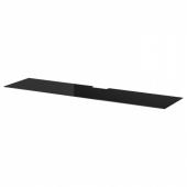 БЕСТО Верхняя панель д/ТВ, стекло черный, 180x40 см