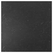 СИББАРП Настенная панель под заказ, черный под мрамор, ламинат, 1 м²x1.3 см