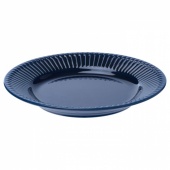 СТРИММИГ Тарелка десертная, каменная керамика синий, 21 см