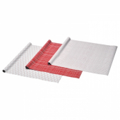 ВИНТЕР 2019 Рулон оберточной бумаги, белый, красный с рисунком, 3x0.7 м/2.10 м²x3 шт