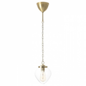 ОТЕРСКЕН Подвесной светильник, прозрачное стекло, лук