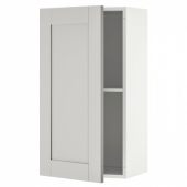 КНОКСХУЛЬТ Навесной шкаф с дверцей, серый, 40x75 см