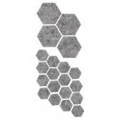ФИКСА Наклейки на мебельные ножки, 20 шт, серый