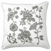 ПРАКТБРЭККА Подушка, белый, светло-серый, 50x50 см