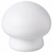 ХЁСТФЕСТ Декоративная подсветка, светодиоды, с батарейным питанием д/дома/улицы, гриб белый, 15 см
